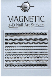 Naglar 3D Rubber Nail Art Sticker - 39
