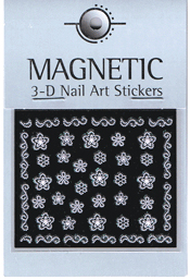 Naglar 3D Rubber Nail Art Sticker - 40