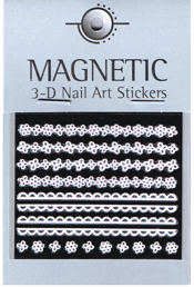 Naglar 3D Rubber Nail Art Sticker - 41
