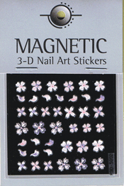 Naglar 3D Pearl Nail Art Sticker - 44