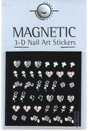 Naglar Holographic 3D Nail Art Sticker - 49
