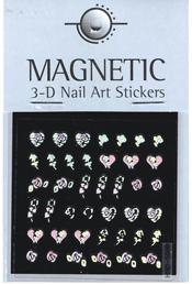 Naglar Holographic 3D Nail Art Sticker - 49