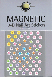 Naglar 3D Nail Art Sticker - 487
