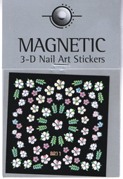 Naglar 3D Nail Art Sticker - 489