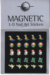 Naglar 3D Christmas Nail Art Sticker