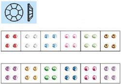 Naglar Nail Art Stenar (rund liten) - 100 st Ljus Blå