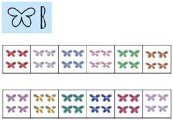 Naglar Nail Art Stenar (butterfly) - 100 st Ljus Blå
