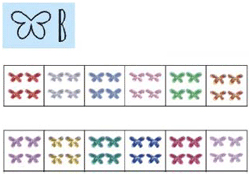 Naglar Nail Art Stenar (butterfly) - 100 st Ljus Grön