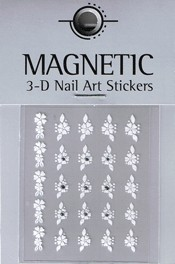 Naglar 3D Nailartsticker  White - 964