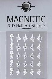 Naglar 3D Nailartsticker  White - 964