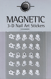 Naglar 3D Nailartsticker  White - 967