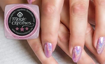 Naglar Holographic Pink Magic Chrome Pigment - 2 gram