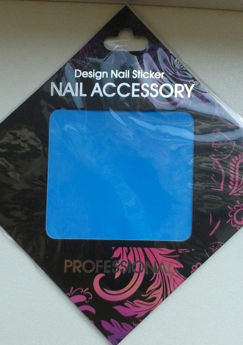 Naglar Transfer Foil Light Blue - 6,2 cm x 14,6 cm