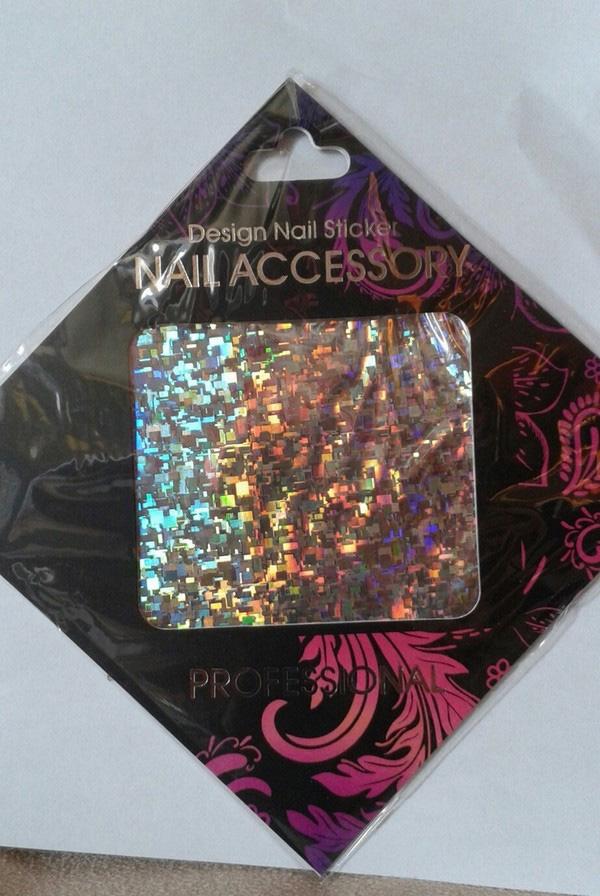 Naglar Transfer Foil Silver Flakes - 6,2 cm x 14,6 cm