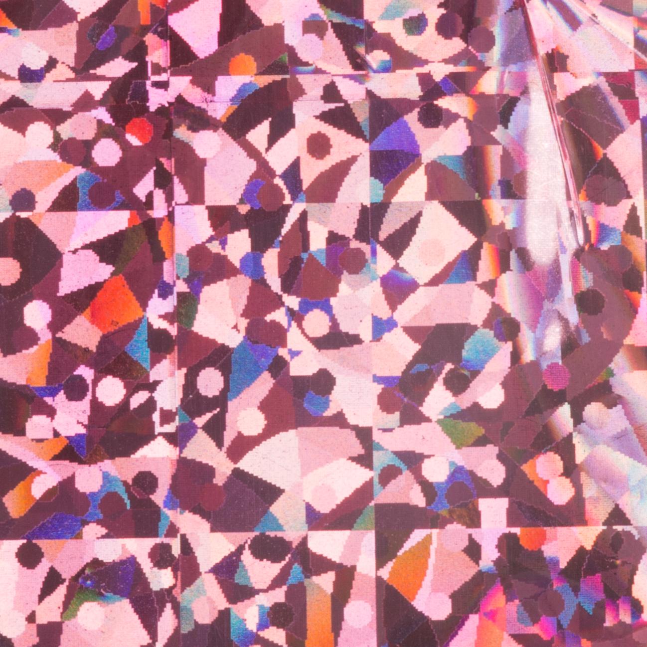 Naglar Transfer Foil Hologram Pink Crunch - 1,5 m x 4,8 cm