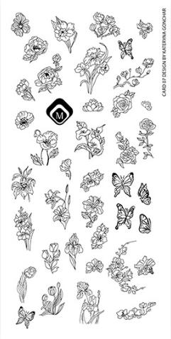 Naglar Stamp Plate Kateryna Gonchar Designs - (24 olika designer)