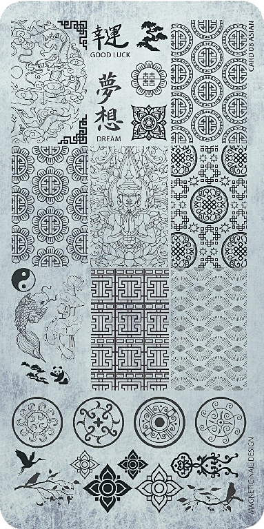 Naglar Stamp Plate Asian Style