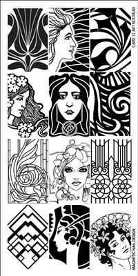 Naglar Stamp Plate Art Nouveau