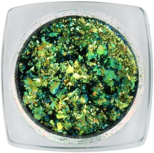 Naglar Chameleon Metallic Flakes - Irregular Dark Green