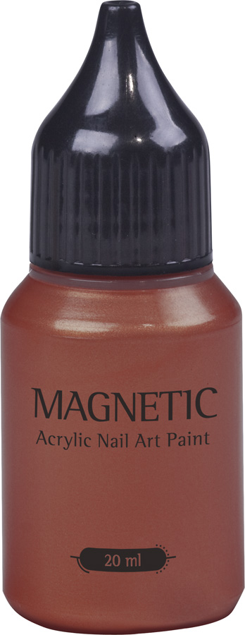 Nail Art Paint Metalic Coral - 20 ml
