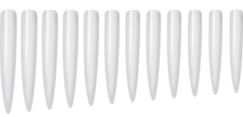 Naglar Stiletto Tips XL Clear - 12 st