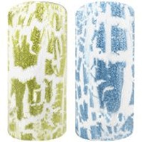 Naglar Craquer Lacquer Blue & Green Glitter Collection