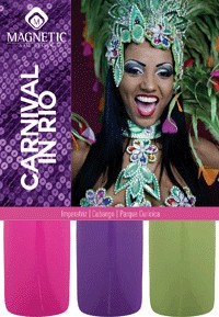 Naglar Carneval in Rio Collection - 3 st 15 ml nagellacker