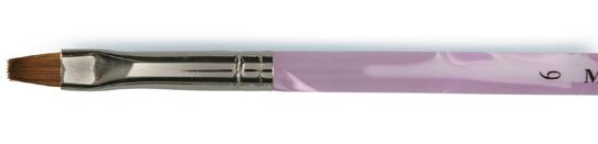 Naglar Gel Pensel nr.6 - Flat Pink