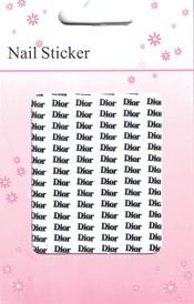 Naglar Nail Art Sticker Silver - Dior