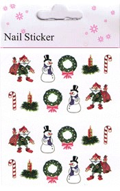 Naglar Christmas Nail Art Sticker  - 11