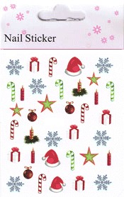 Naglar Christmas Nail Art Sticker  - 12