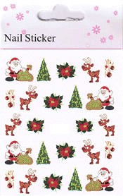 Naglar Christmas Nail Art Sticker  - 13