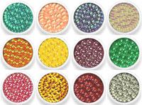 Naglar Dazzling Round Small - 12 färger i en förpackning