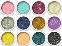 Naglar Glitter Dust - 12 färger i en förpackning