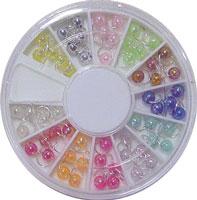 Naglar Karussell med 60 pärldangles - 12 olika färger