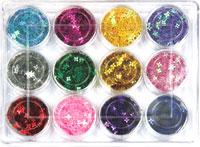 Naglar Dazzling Criss Cross - 12 färger i en förpackning
