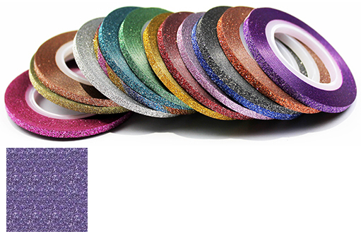 Naglar Striping Glitter Tape - 3 mm bred