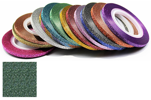 Naglar Striping Glitter Tape - 1 mm bred