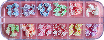 Naglar Fimo Flower Kit 5 - 60 st