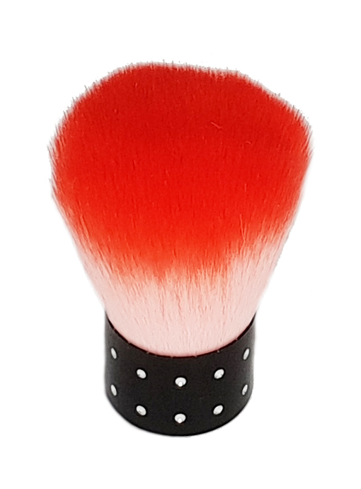 Naglar Dust Brush - Mellan Red/White