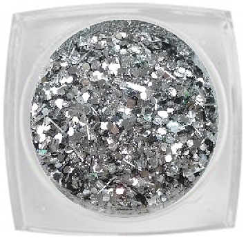 Naglar Mixed Glitter - Silver