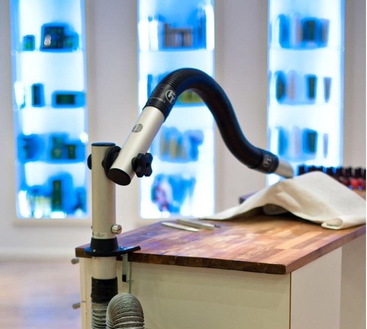 Naglar Flexibel arm och munstycke med bordsfäste (1 m)