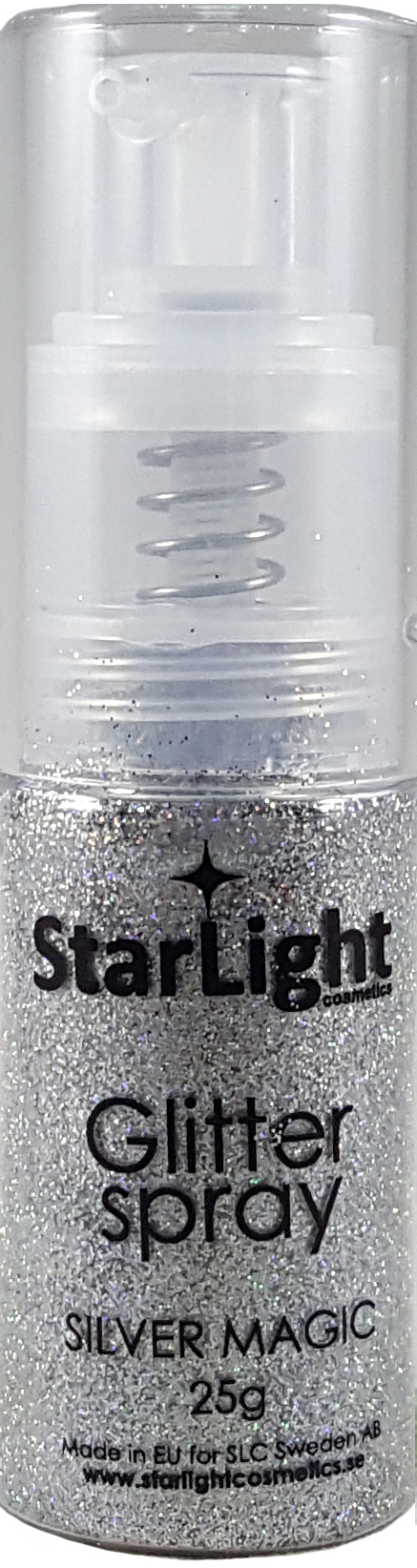 Naglar Glitter Spray Silver Magic - 25 gram