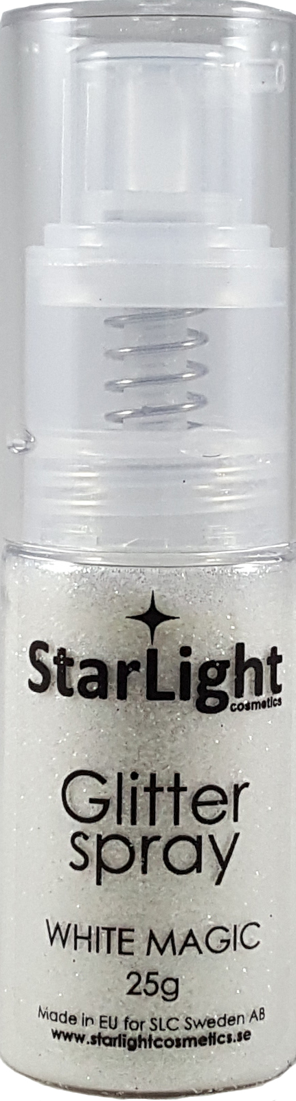 Naglar Glitter Spray White Magic - 25 gram