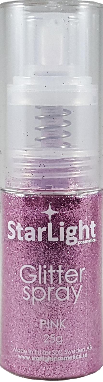 Naglar Glitter Spray Pink - 25 gram