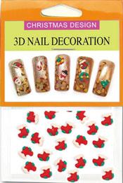Christmas 3D Dekorationer  - Julstrumpa G