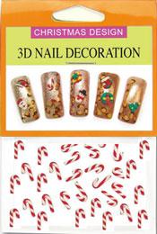 Christmas 3D Dekorationer  - Polkagris