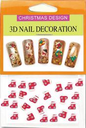Christmas 3D Dekorationer  - Julstrumpa S
