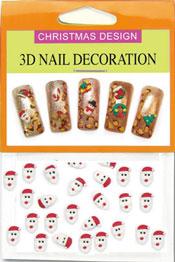 Christmas 3D Dekorationer  - Tomte