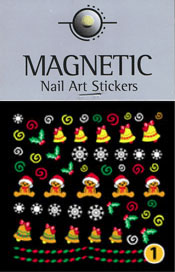 Naglar Christmas Nail Art Sticker  - 1